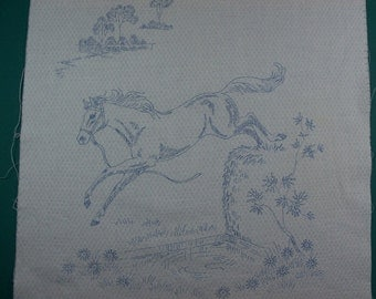 Stamped Jumping Horse Sampler - FREE SHIPPING