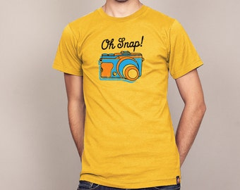 OH SNAP Photography Camera T-shirt Men's and Ladies' Sizes