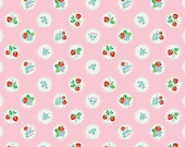 Strawberry Biscuit by Elea Lutz for Penny Rose C5103 - Pink Scallop - Strawberry Fabric