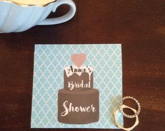 "Tea Favors WATERCOLOR  ""Chocolate Cake "" - Tea Favors-: Customized High Tea Bridal Tea Wedding Favor"