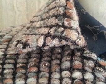 Sale, Winter coat, Soft wool coat, brown and sparkle light coat, knee length coat, Unique coat, Fall coat, Autumn wool