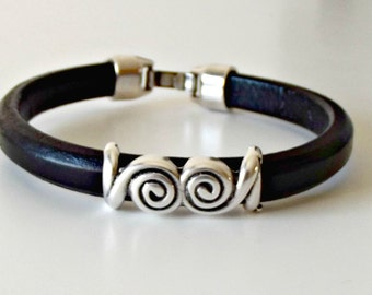 Leather bracelet, leather bracelet, husband gift, bracelet homme, leather jewelry, friendship bracelet, brother gift