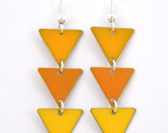 "Earrings ""Mustard, Golden, yellow flag"""