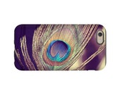 Peacock feather Iphone case - 3D full image wrap peacock iphone case - Iphone 6 case - Iphone 6S case - Peacock 3D iphone case - peacock