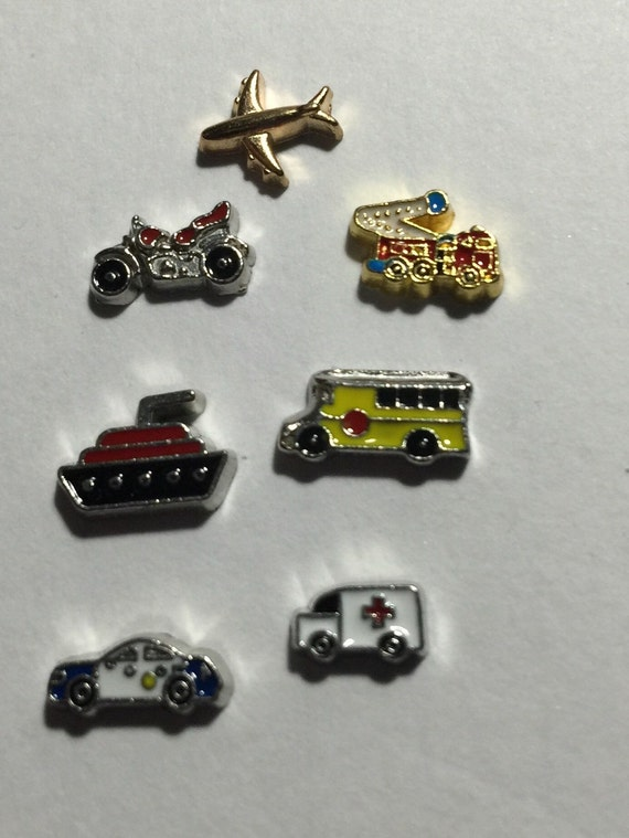 transportation floating charms by jewelryandstuffbylis on etsy