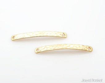 Hammered Bar Pendant in Matte Gold / 35.5mm x 4mm / BMG257-P (2pcs)