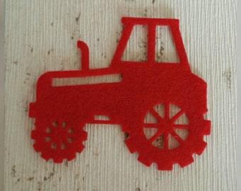 Felt Tractors, die cut felt, tractor birthday, tractor shirt, felt, John Deere tractors, farm, tractors, card making, Green Tractor,