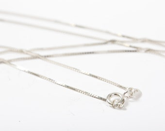 Sterling Silver 925 - 18'' Box Chain