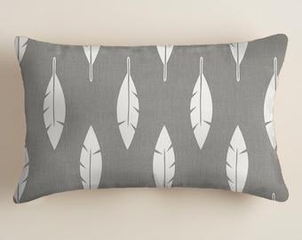 PILLOWS -  Grey Pillows - Lumbar French Stamp, Decorative Throw Pillow -  Accent Pillows  Decor Yellow  Cushion Covers  decorative Pillows