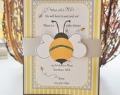 Bee Invitation | Mommy to Bee Invitation| Bumble Bee invitation,What will it Bee Invitation | Bee Shower Invitation | Gender Reveal Invite