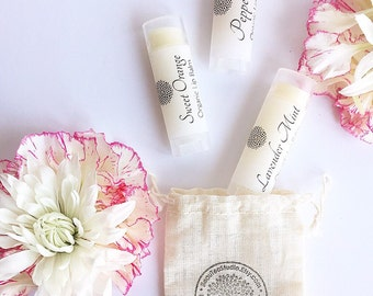 All Natural - Organic Lip Balms / Lip Butter - Oval Tubes