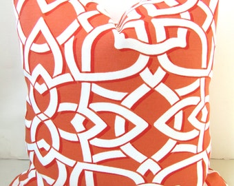 ORANGE OUTDOOR Pillows Coral Pillow Covers Coral Outdoor Pillows Coral Outdoor Pillow Covers 14x14 16x16 Home and Living