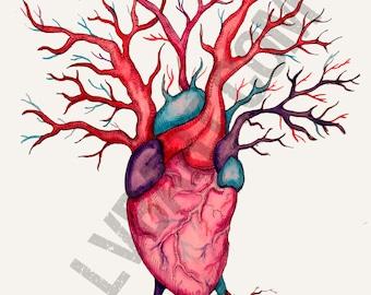Heart Tree Fine Art Print