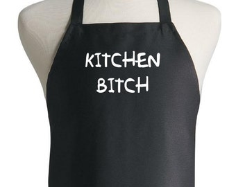 Funny Cooking Aprons Kitchen Bitch Adults Black Apron Novelty