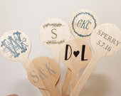 50 CUSTOM Wooden Drink Stirrers Great for Coffee Bars and Weddings