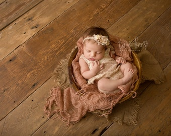 Newborn Photo Prop: Burlap Layering Mini Blanket for Newborn Photo Shoot, Newborn Photography, Infant Photography, Infant Photo Prop
