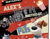 The Secret Life Of Pets Birthday Invitations, The Secret Life Of Pets