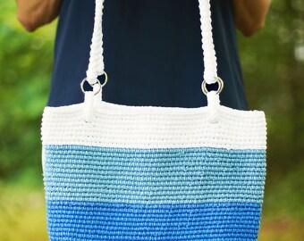 Crochet Pattern Tote Beach Bag, Pacific PDF 16-263