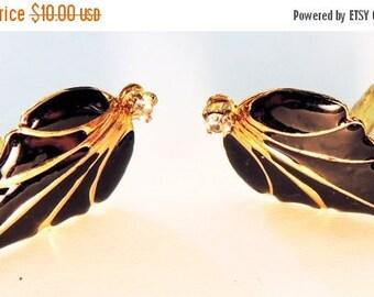 Rhinestone Enamel Earrings