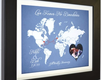 Personalized Maps Long Distance Relationship Birthday Gift, Fiance Boyfriend Moving Going Away Farewell Present valentines day gift Ideas