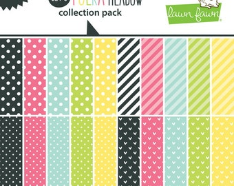 Lawn Fawn - Paper - Let's Polka in the Meadow - Collection Pack