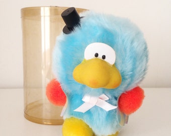 Vintage blue duck puffy doll