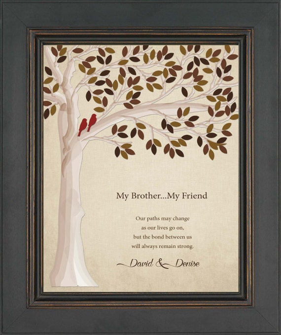 Personalized Wedding Gift For Brother : ... giftWedding gift for brother or sister -other colors available
