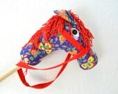 Hobby Horse Head- Stick horse wth flowers