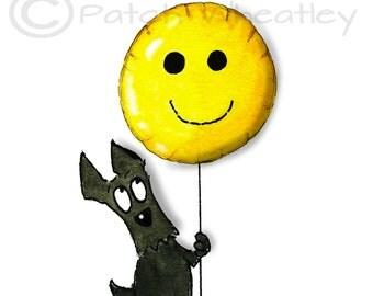 Scottie Dog 'Smile'  Art Print 8X6 inch