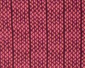 Plaited by Anna Maria Horner for Free Spirit Fabric - Fat Quarter Fibs and Fables - Modern Fabric Braids Magenta Red Pink Fabric Pink Fabric