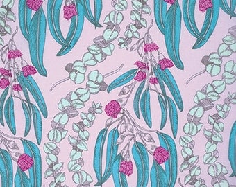 Eucalyptus by Anna Maria Horner Free Spirit Fabric Pretty Potent - Modern Fabric - Purple Floral Lavender Turquoise Floral Fabric