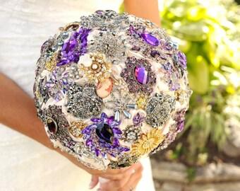 Brooch Bouquet Grande Size Custom Made Wedding Bouquet