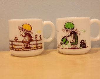 Set of Two Vintage Holly Hobbie Mugs
