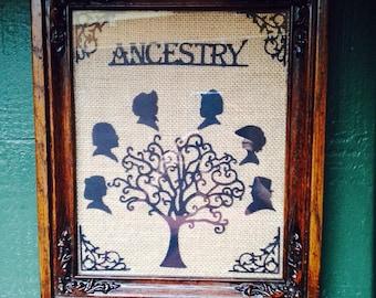 Framed Ancestry Cardstock Wall Decor!