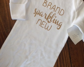 """Baby Gown """"Brand Sparkling New"""""""