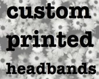 Custom Printed yoga Headbands 24 count YOUR DESIGN printed onto our antimicrobial yoga headbands.