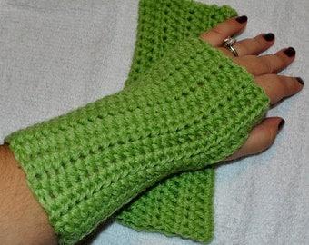 Green Tea Handmade Crochet Wrist Warmers