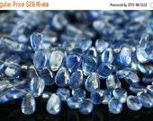 sale Blue kyanite gemstone briolette- water sapphire smooth polished kyanite  pear briolette- set of 20 PCs- 6-8 mm No.664