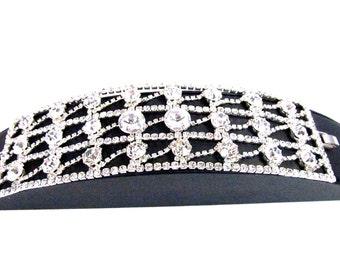 SALE ~ Crystal Bridal Bracelet, Rhinestone Wedding Bracelet, Rhinestone Evening Bracelet EB 42