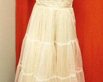 1950's Vintage Tulle Cupcake Prom or Formal Dress