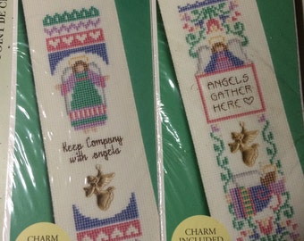 Cross Stitch Kits! Angel Book Marks With Beautiful Angel Charms!!!