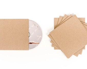 50 Cd Sleeves| Wedding Cd| Wedding Favor| Cd Case| Cd Sleeves| Cd| Kraft Cd Sleeves| Kraft Paper| Kraft Cd Sleeve| Cd Cover| Kraft Sleeve