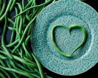 Green Bean Love | Food Photo Print | Kitchen Photography | Minimal Food Art | Fruits & Vegetables | Valentine's Day | Heart