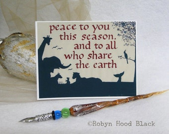 Peace to You holiday or Christmas cards - package of 8