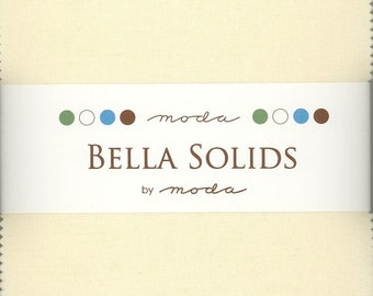 Bella Solids Ivory Charm Pack, Set of 42 5-inch Precut Cotton Fabric Squares (9900PP-60)
