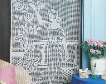 Lace flowers white drapery doily crochet