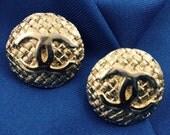 Signature Chanel Clips w Golden Boucle Detail