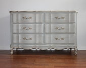 SOLD****Gustavian Grey French Dresser/Baby Changing Table