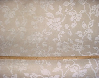 3-1/2 yards Lelievre of Paris 0443 Astragle in Blanc - Breathtaking Cut Tissue Floral Chenille Upholstery Drapery Fabric - Free Shipping