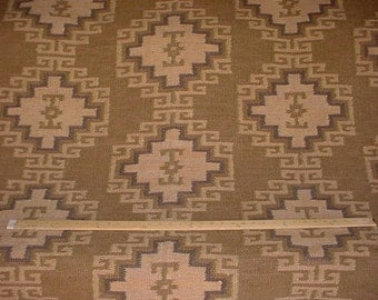 30 Foot Ralph Lauren Marraskesh in Camel - Custom Knotted Jute Rug Ikat Kilim Tapestry Upholstery Drapery Fabric - Free Shipping